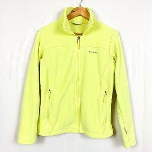 Columbia Full Zip Fleece Jacket Lemon Yellow
